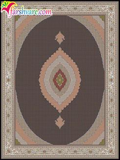 خرید اینترنتی فرش شونهر ؛( فرش ماشینی طرح ریزماهی رنگ سرمهای )