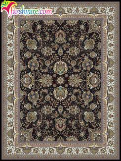 فرش ماشینی بدون ترنج - فرش ماشینی کاشان طرح یاشار با رنگ سرمهای