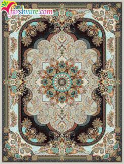 فرش ماشینی کاشان 1000 شانه ( طرح نسترن موشی )، خرید فرش کاشان