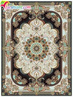 فرش ماشینی 1000 شانه کاشان ( طرح نسترن کرم )، قیمت فرش ماشینی