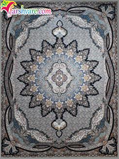 فرش ماشینی 1200 شانه تراکم 3600 - فرش کاشان طرح یلدا با رنگ فیلی
