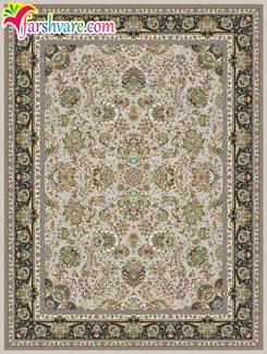 فرش ماشینی 8 رنگ - خرید اینترنتی فرش کاشان طرح یاشار با رنگ فیلی