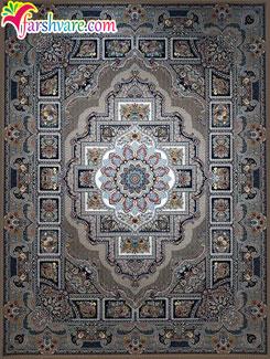 فرش کاشان 1200 شانه 3600 تراکم - فرش رنگ نسکافه ای (طرح سوشیا)