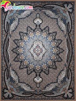 فرش 1200 شانه کاشان ؛ فرش ماشینی کاشان طرح یلدا با رنگ نسکافهای