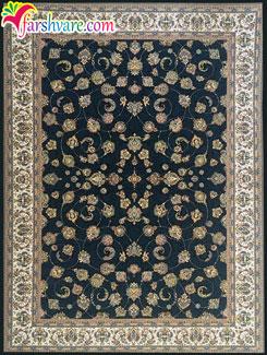 فرش طرح افشان شاه عباسی ، فرش ماشینی کاشان طرح افشان سرمهای