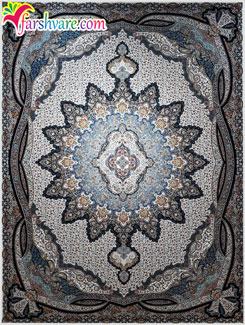 فرش ماشینی جدید کاشان (طرح یلدا)؛ فرش ماشینی کاشان با رنگ کرم