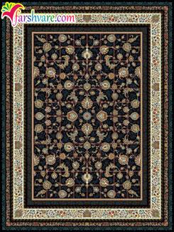 فرش کاشان جدید ، فرش طرح کرشمه ، فرش ماشینی کاشان 1000 شانه
