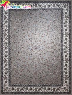 فرش 1200 شانه افشان ، خرید اینترنتی فرش ماشینی کاشان با رنگ فیلی