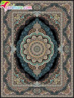 Persian Carpet Of MehrAzar Design, Iranian Carpet With Black Color