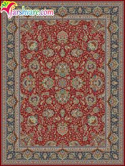فرش روناسی ، فرش زمینه روناسی طرح یاشار ، فرش ماشینی رنگ روناسی