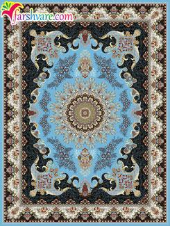 فرش کاشان رنگ آبی ، خرید اینترنتی فرش ماشینی کاشان با رنگ زمینهی آبی
