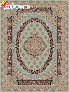 فرش 1000 شانه کاشان با رنگ موشی - خرید فرش ماشینی طرح فلورنس