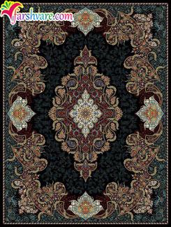 Persian Carpet Of Shahrzad Design, Iranian Carpet With Black Color