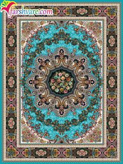 Persian carpet of Ilia design, Iranian blue carpet, Oriental carpets