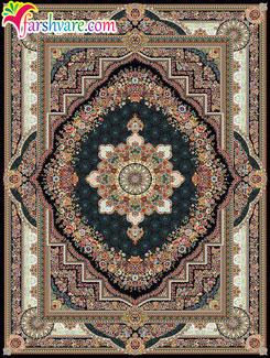 فرش طرح بهشت سرمهای - خرید آنلاین فرش ماشینی کاشان 700 شانه