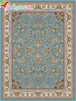 فرش طرح یاشار آبی - فروش فرش ماشینی کاشان 1000 شانه از کارخانه