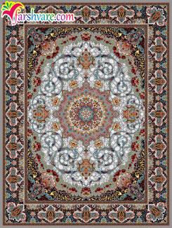 فرش 1000 شانه ای کاشان ، فرش ماشینی طرح مهرنوش 1000 شانه