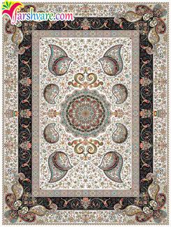 New Persian carpet of Vesal design , Iranian carpet with cream color