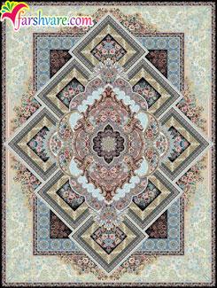 فرش جدید ماشینی طرح آرزو ؛ فرش زیبای کاشان 1000 شانه و تراکم 3000