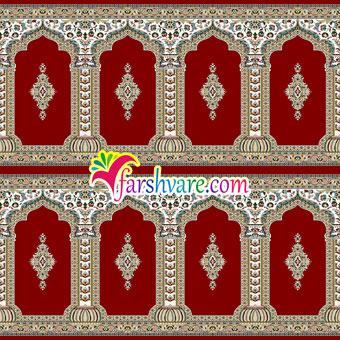 فرش مسجد سجادهای طرح رضوان