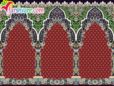 فرش مسجد قرمز