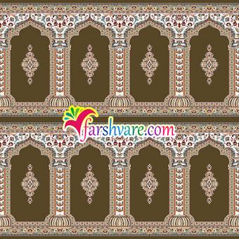 فرش نماز مسجد طرح رضوان ؛ خرید اینترنتی فرش سجاده نمازخانه مستقیم از کارخانه