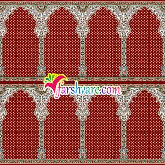 فروش اینترنتی سجاده فرش مسجدی مستقیم از کارخانه طرح شمیم قرمز