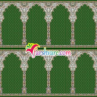 فروش اینترنتی فرش محرابی نمازخانه ای مستقیم از کارخانه رنگ سبز