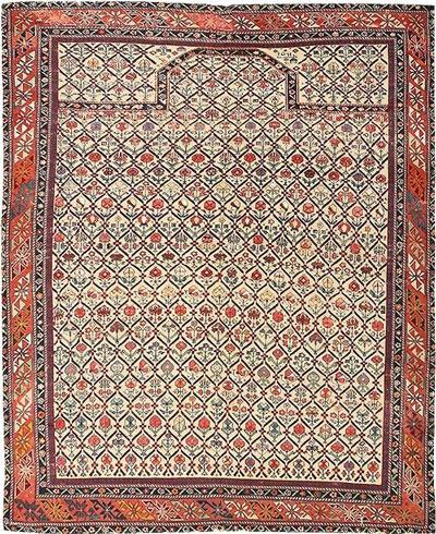 بافت فرش سجاده توسط مسلمانان