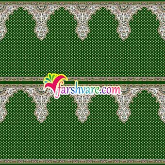 فرش سجاده ای ماشینی مسجد رنگ سبز طرح ثامن