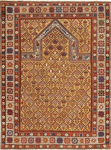 فرش سجاده محرابی قدیمی بافته شده توسط مسلمانان
