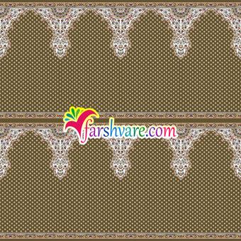 فرش ماشینی محرابی برای مسجد رنگ گردویی طرح ثامن