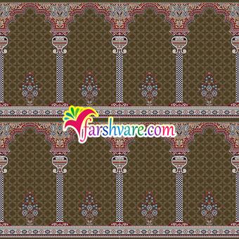 فرش نمازخانه ای محرابی طرح خضرا