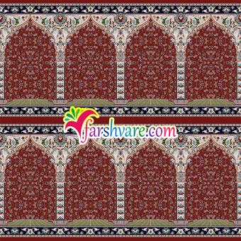 فروش سجاده فرش مسجد قرمز رنگ طرح آسایش