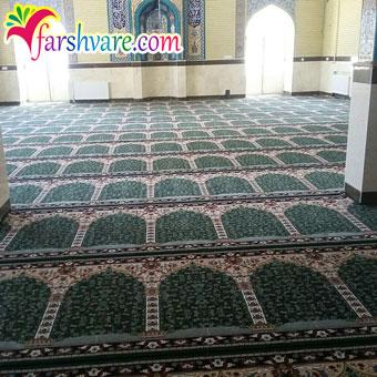 نمونهی بافته شدهی سجاده فرش سجاده ای طرح آسایش