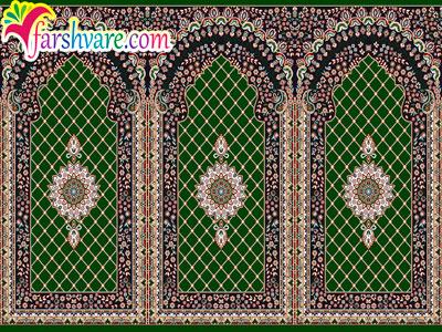 الیاف پنبه در بافت فرش سجاده ای برای مسجد