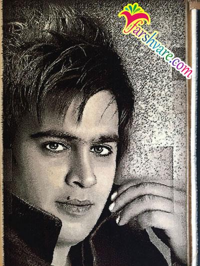 بافت عکس شخصی روی تابلو فرش ماشینی