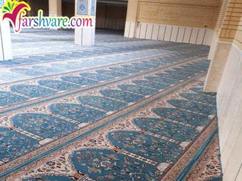 خرید سجاده فرش مسجد آبی از کارخانه فرش سجاده ای کاشان