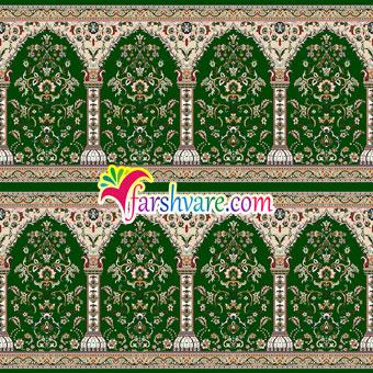 خرید فرش سجاده ای مسجدی طرح طاها سبز