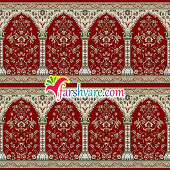 خرید فرش سجاده مسجد طرح طاها قرمز رنگ