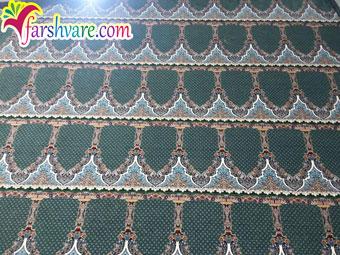 فرش مسجدی با فرش سجاده ای سبز طرح محتشم