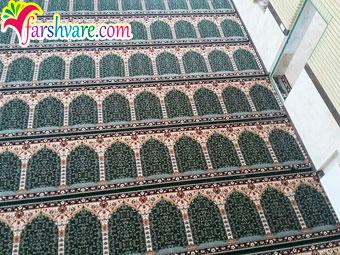 نمونه سجاده فرش مسجد فروش فرش سجاده ای رنگ سبز طرح آسایش