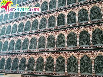 نمونه فرش مسجد فروش فرش سجاده ای طرح آسایش رنگ سبز