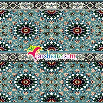 سجاده فرش تشریفاتی برای مسجد و نمازخانه رنگ آبی