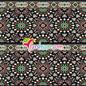 فرش سجاده ای تشریفاتی برای مسجد با طرح کاشیکاری