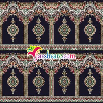 فرش مسجدی محرابی رنگ سورمه ای طرح بارگاه