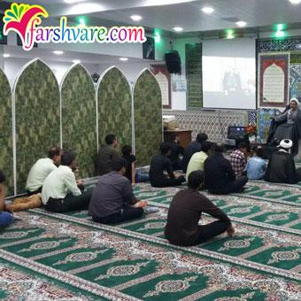 نمونه بافته شده سجاده فرش مسجدی جدید طرح بارگاه