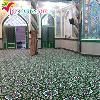 نمونه بافته شده فرش سجاده تشریفاتی مسجد