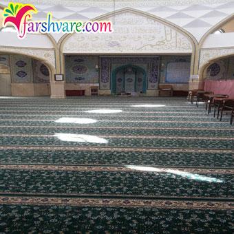 فرش سجاده بدون محراب بافته شده برای مسجد و نمازخانه