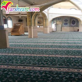 نمونه بافته شده فرش سجاده ای بدون محراب برای مسجد